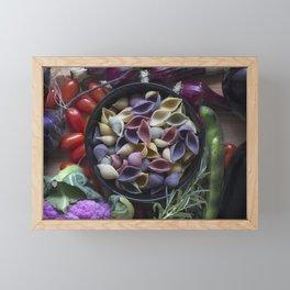 Nightshaded pasta ingredients Framed Mini Art Print