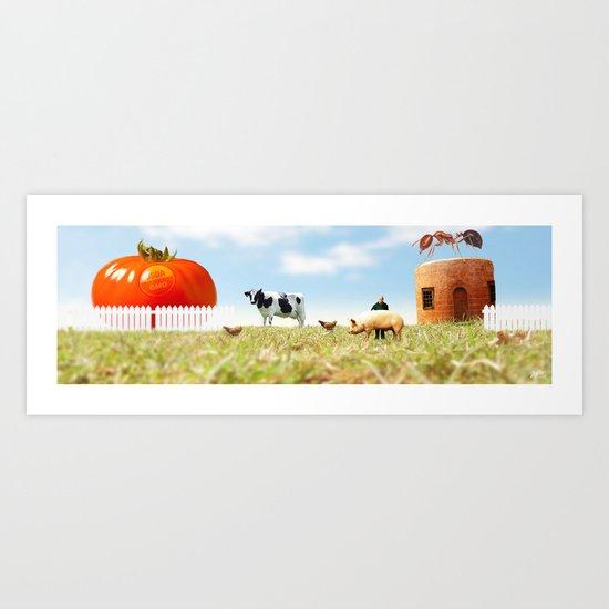 Honey I Shrunk the Farm. Art Print