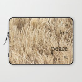 Live in Peace Laptop Sleeve