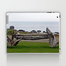 Driftwood Fence and the Sea Laptop & iPad Skin