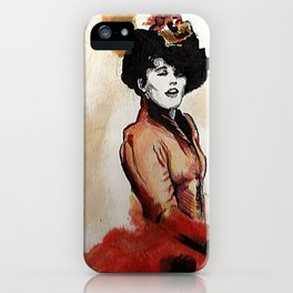 Irene Adler in Watercolor iPhone Case