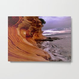 Painted Cliffs Metal Print