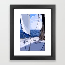 Sailing Winds - Sailing the Caribbean Framed Art Print