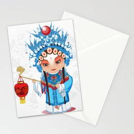 Beijing Opera Character GongNv Stationery Cards