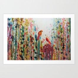 la romance Art Print