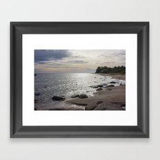 Seascape with stones Framed Art Print