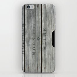 Old wooden box from overseas iPhone Skin