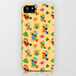 Colorful Macaws iPhone Case