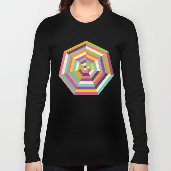 Heptagon Quilt 1 Long Sleeve T-shirt