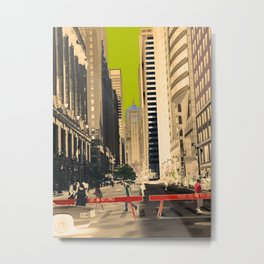 Downtown Chicago photography digitally reimagined - modern Chicago skyline in pop art Metal Print