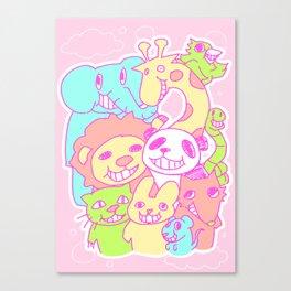 Smirking animals Canvas Print