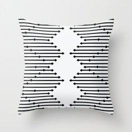 Diamond Lines Throw Pillow