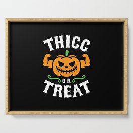 Thicc Or Treat Serving Tray