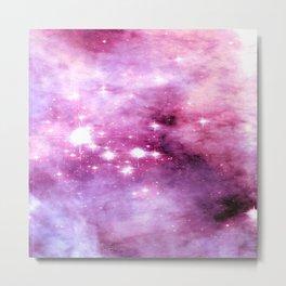 Rose Quartz Lavender Nebula  Metal Print