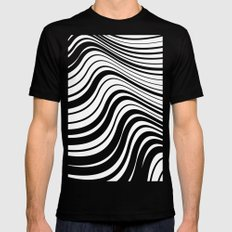 Organic Stripes #08: Monochrome version Mens Fitted Tee 2X-LARGE Black