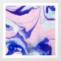 lucy Art Prints featuring Lucy by Jenna Mhairi