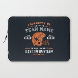 Generic Football T-Shirt Laptop Sleeve