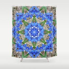 Spring Scilla Kaleidoscope Shower Curtain