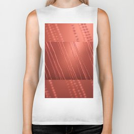 Red abstract awry chains Biker Tank
