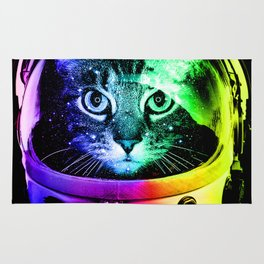 Astronaut Cat Rug
