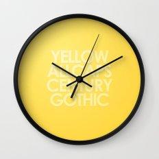 MetaType Yellow Wall Clock