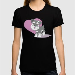 Miniature Schnauzer Puppy Dog Adorable Baby Love T-shirt