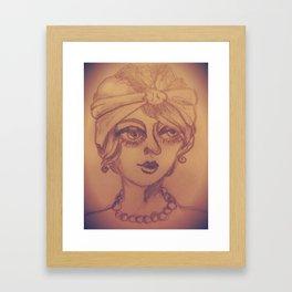 Vintage She Framed Art Print
