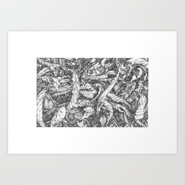 Life Down There. Art Print