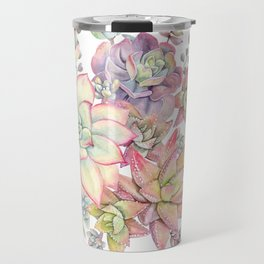succulent watercolor 18 Travel Mug