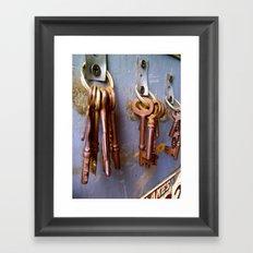 Rusted Keys Framed Art Print