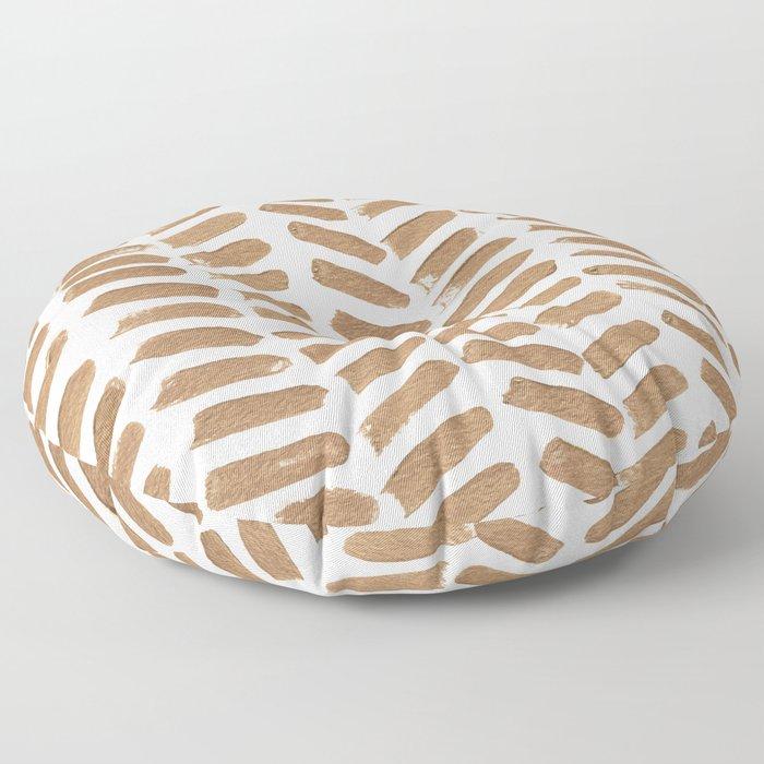 Gold Chevron Floor Pillow