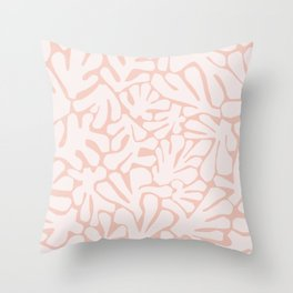 The Cut Outs | Pastel Pink Throw Pillow