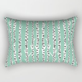 Birch Tree northwest minimal forest woodland nature pattern by andrea lauren Rectangular Pillow