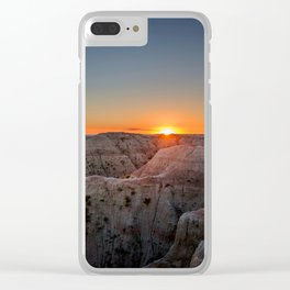 South Dakota Sunset - Dusk in the Badlands Clear iPhone Case