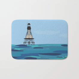 Fowey Rocks Lighthouse Bath Mat