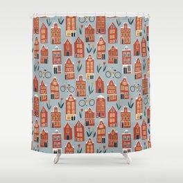 Charming Dutch Houses Shower Curtain
