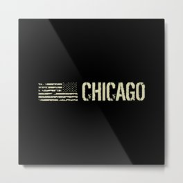 Black Flag: Chicago Metal Print