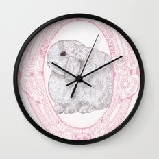 Cameo Bunny Wall Clock