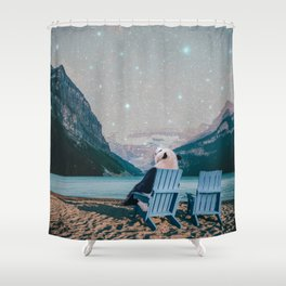 panda at the sea Shower Curtain