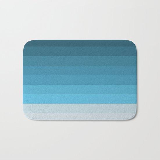 Blue Lagoon stripes pattern Bath Mat