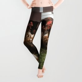 Chickens at the hen house Leggings