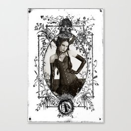fetish b&w Canvas Print