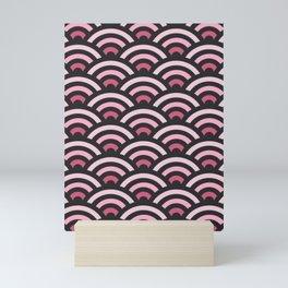 Pink Gradient Seigaiha Mini Art Print