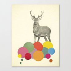 Stag in Heaven Canvas Print