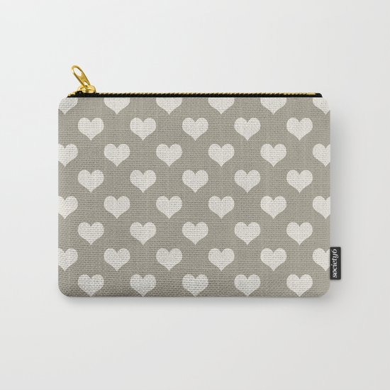 Heart Alabaster Blue Gray Carry-All Pouch