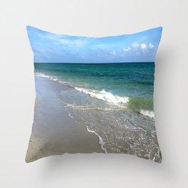 Meet the Beach Throw Pillow