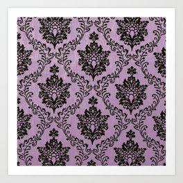 Pink Damask pattern,chic,elegant,great Gatsby,belle epoque,trending,fan pattern,victorian,modern pa Art Print