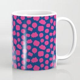 Wordy Navy Coffee Mug