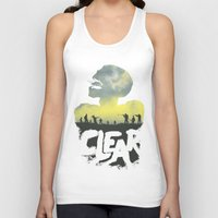 clear Tank Tops featuring CLEAR by Kidney Theft