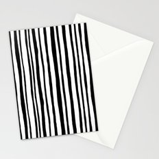 Into the Woods Stripes black Stationery Cards